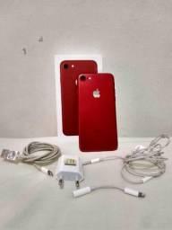 IPhone 7 Red 128gb com todos os acessórios originais e caixa
