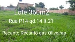 Lote 360m2,Recanto das Oliveiras,
