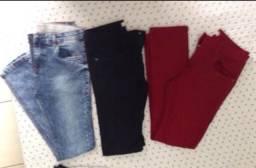 Lote 03 calça jeans tam 12
