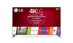 Smart TV LG 4K 43'' UJ6565 Titanium - [com problema na placa principal]