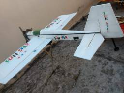 Aeromodelo glow funstar usado, baixei o preço pra vender rápido!!