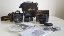 Câmera Nikon D3100 + Lente 18-55mm + Lente 50mm + 2 Baterias + Bolsa Original