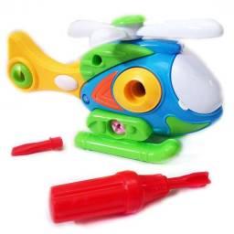 Helicóptero Monta e Desmonta - brinquedo pedagógico