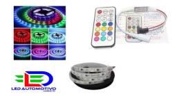 Título do anúncio: Fita digital RGB 300 Leds + Central + Controle