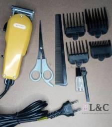 Título do anúncio: Máquina de Corta cabelo Knup entregamos Garantia é nota .