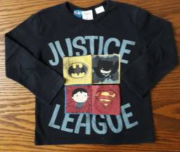 Título do anúncio: camisa Zara Liga da justiça 2 a 3 anos