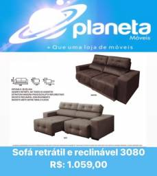 Título do anúncio: SOFÁ RETRÁTIL RECLINÁVEL 3080 / AQUÁRIOS AQUÁRIOS AQUÁRIOS AQUÁRIOS