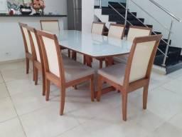 Título do anúncio: Mesa toda de madeira maciça de 8 lugares