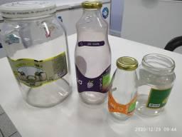 Embalagens de Vidros diversos tamanhos