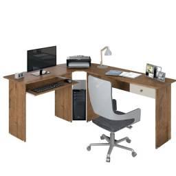 Mesa Escrivaninha Estação De Trabalho Natura Off White