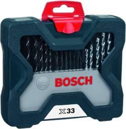 Jogo de Brocas e Bits X-line 33 Peças Bosch com Maleta - NOVO
