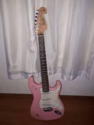 Título do anúncio: Guitarra Memphis by Tagima 1985 Rosa  + Cabo P10 Roxo