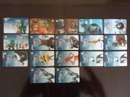 Título do anúncio: 17 Cartões Telefônicos - Série Completa - Robôs