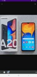 Samsung A20 na caixa todo completo