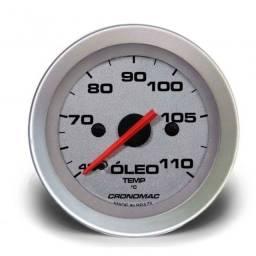 Termômetro Mecânico de Óleo 52mm Cabo 2 metros - Racing
