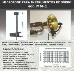 Microfone Para Sax Clarinete Trompete Phantom power