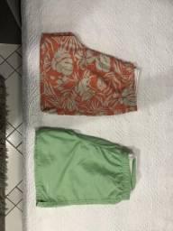 2 shorts de elastico de praia por 80,00 novinhos