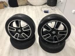 Rodas aro 18 kia Hunday com pneus jogo