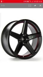 Troco rodas gt7 Racing aro 17 5x100 por rodas original do fox