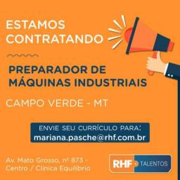 Vaga: Preparador de Máquinas Industriais
