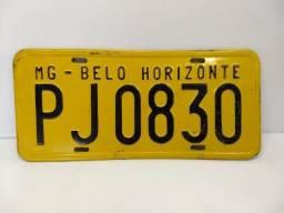 Placa Amarela Carro Antigo Retro Decoração Vintage Bh Mg