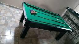 Mesa Tentação 1,93 x 1,18 Cor Tabaco Tecido Verde Mod. VXIC5711
