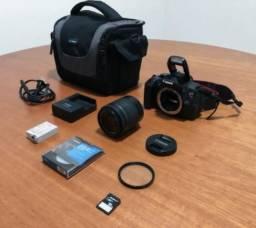 Câmera Canon T5i + lente 18-55mm + filtro UV + bolsa + SD 16g