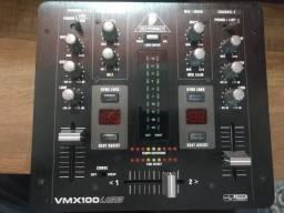 Mixer 2 Canais Para Dj USB vmx 100 usb - Behringer