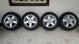 Rodas Peugeot 407 (5 furos) originais (Oportunidade)