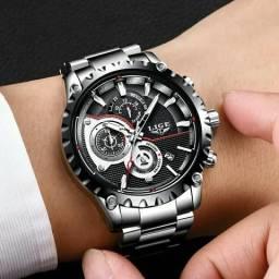 Relógio Masculino Original Lige Super Luxo