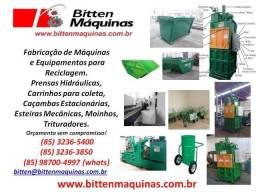 Equipamentos para Reciclagem - Prensas Enfardadeiras, Carrinhos, Esteiras