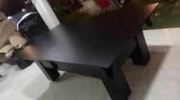 Mesa com Tampo Residencial Cor Preta Tecido À escolha Mod. WDXA0880