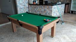 Mesa Tentação e Jantar Cor Cerejeira Tecido Verde Mod. RWUD8767
