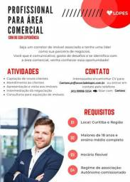 Profissional p/ Área Comercial