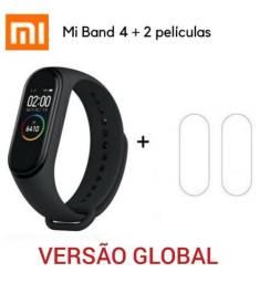 Promoção! Mi Band 4 Xiaomi Original Versão Global + 2 Películas e Pronta Entrega