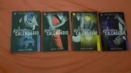 Livros A garota do Calendário Janeiro, Fevereiro, Março e Abril