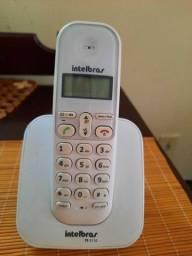 Telefone sem fio branco Intelbras