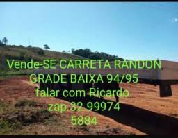 Vende-se carreta Randon grade baixa ano 94/95