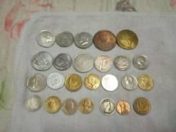 Coleção de notas e moedas