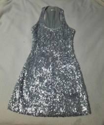 Vestido de paete prata