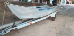 Título do anúncio: Barco 6M com carreta e motor