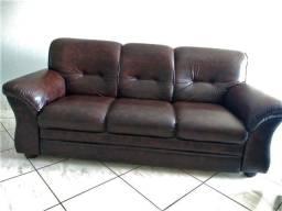 Conjunto de sofá de couro sintético