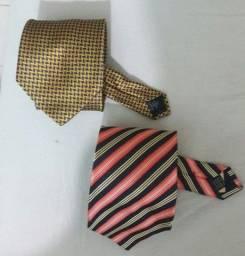 Título do anúncio: Kit com 2 gravatas de seda importadas