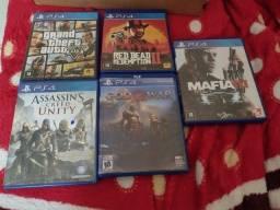 Título do anúncio: Jogos de PS4 ( sou de Cataguases)