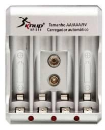 Carregador de pilhas Bivolt  AA/ AAA/ 9v knup jputick -511