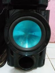 """Título do anúncio: Mini system potente LG mct740 com defeito"""" proteção"""" subwoofer individual potente"""