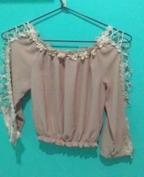 Título do anúncio: Blusa rosa curta