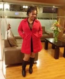 Título do anúncio: Casaco de frio - Veludo Vermelho