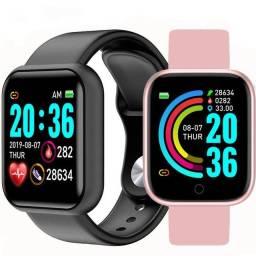 Título do anúncio: Y68//fit pro Smart Watch Y68 Com Rastreador De Frequência Cardíaca Para Ios / Android
