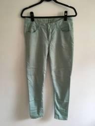Título do anúncio: Calça skinny verde menta tamanho 38